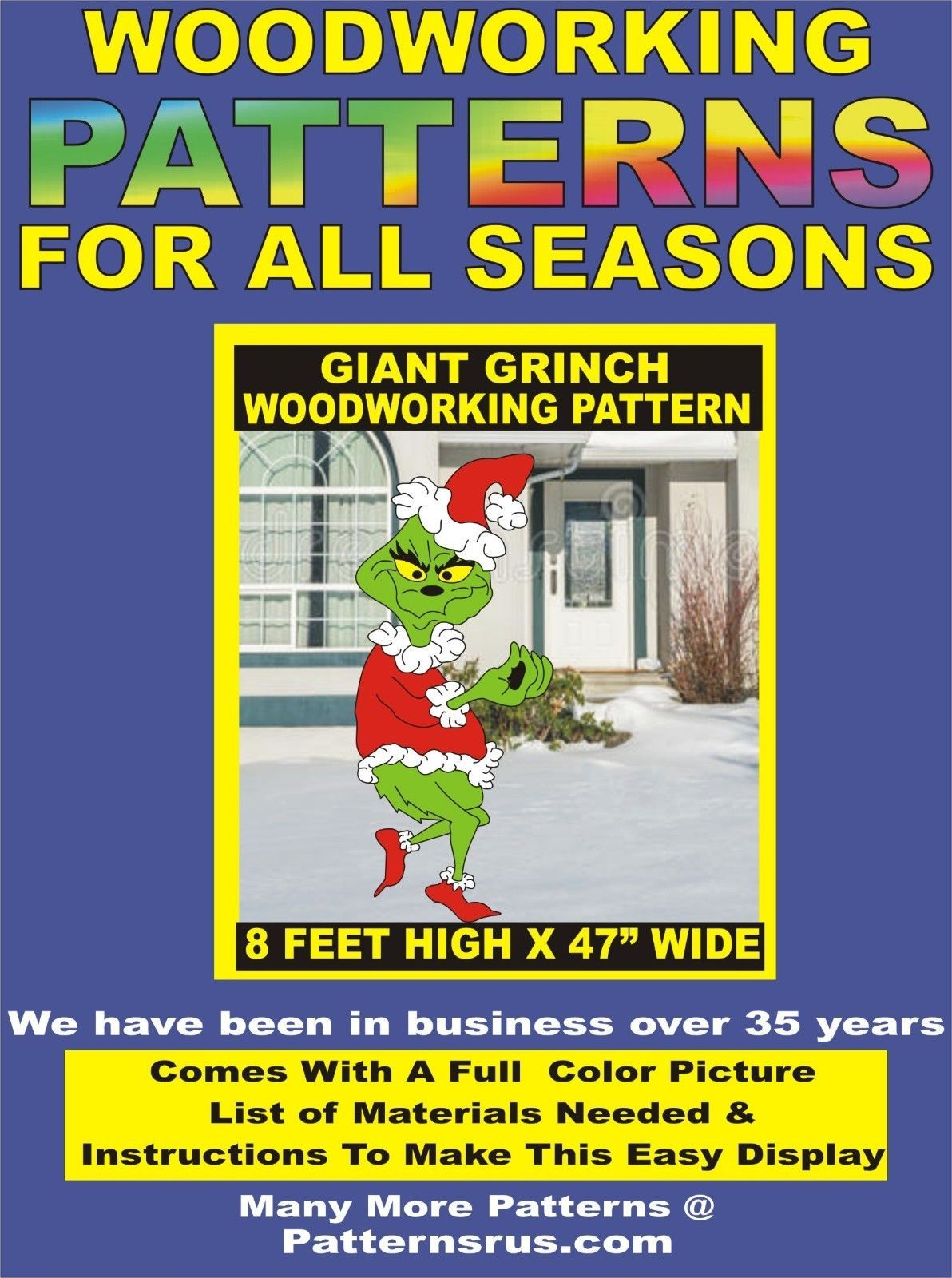 grinch huge stealing lights giant christmas woodworking