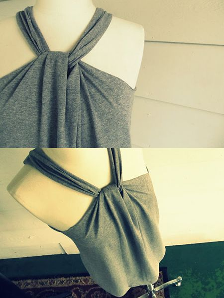 DIY No sew remodel T-shirt halter | 365 DIY T Shirt ...
