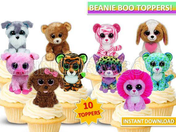 Beanie Boo cupcake toppers/ Beanie boo Printables/ by ANNILORACK