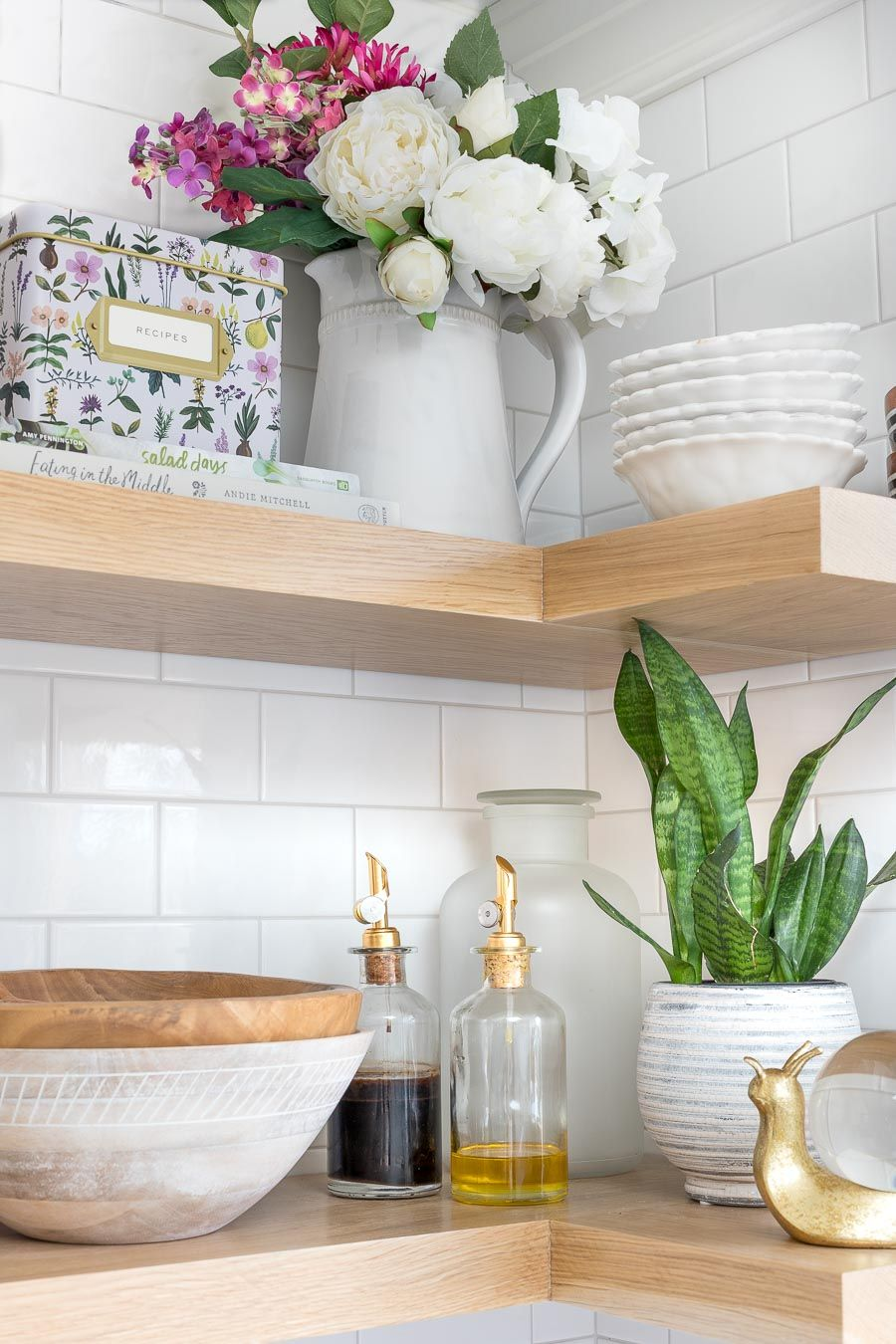 DIY Floating Corner Shelves in Our Kitchen All the