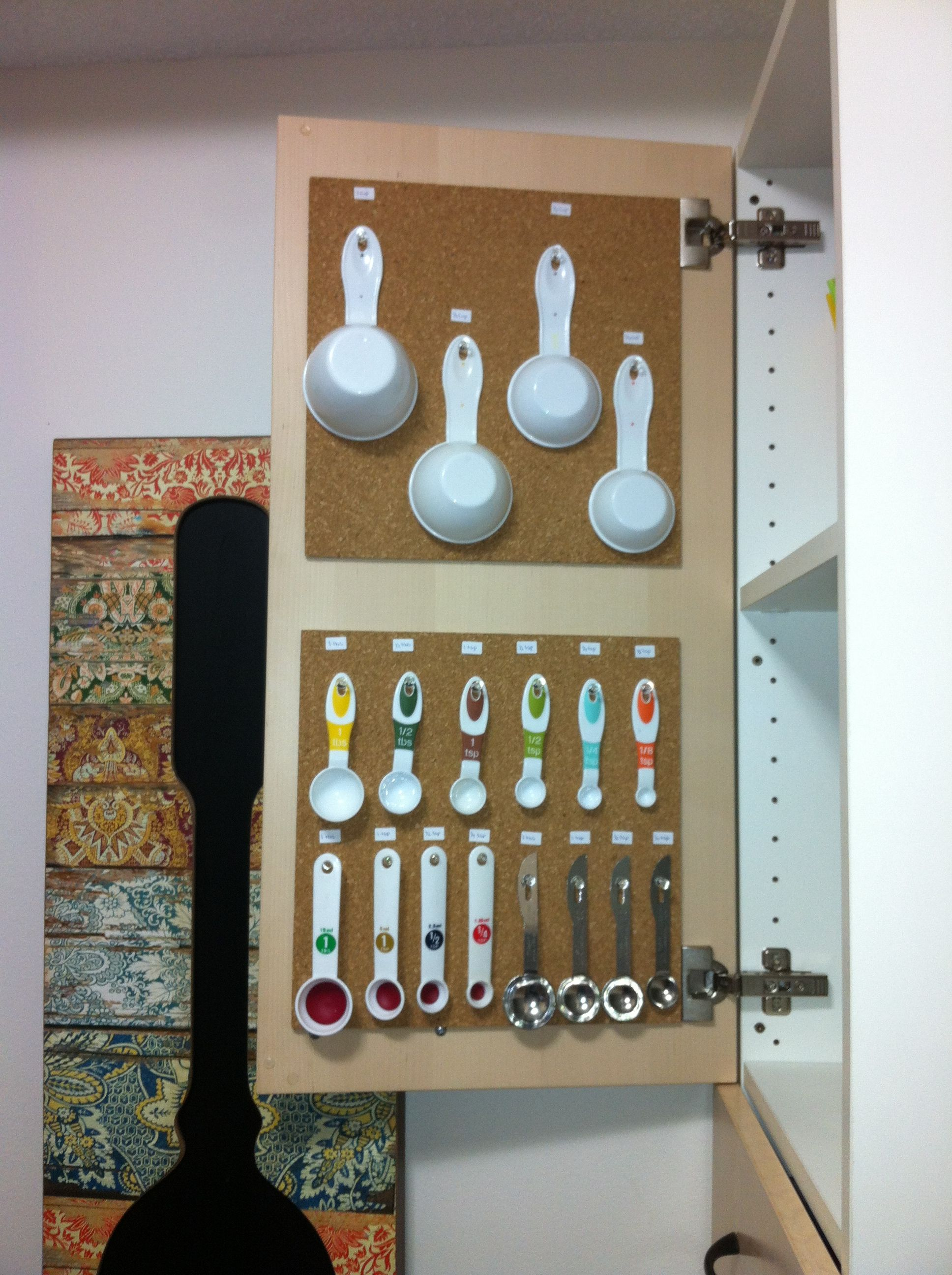 Organize Your Baking Utensils With 2 Cork Board Sheets 2