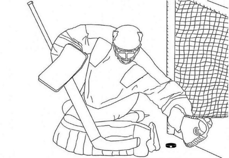 Swing The Stick Score A Goal Ice Hockey Coloring Pages Ausmalen Ausmalbilder Bilder