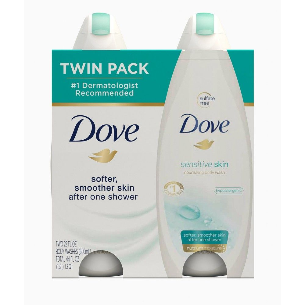 Dove Sensitive Skin Unscented Sulfate Free Body Wash 22 Fl Oz Dove Sensitive Skin Body Wash Sensitive Skin Body Wash Sulfate Free Body Wash