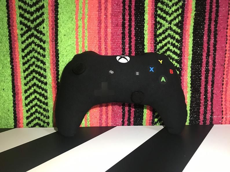 Xbox Controller Decorative Pillow (with Movable Joysticks)