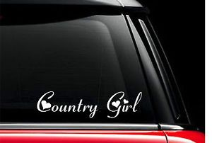 Cowgirl Stickers For Trucks Heart Vinyl Car Truck Decal
