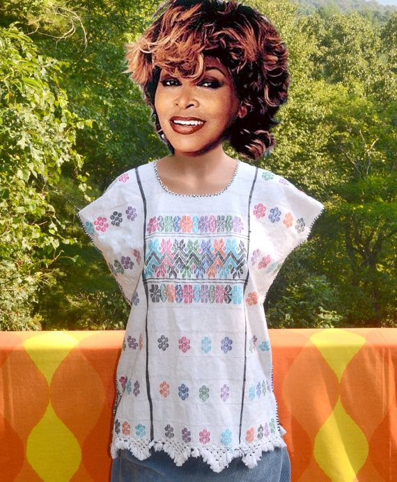 1f9cacd5 vintage 70s embroidered FLORAL shirt fringe peasant top ethnic ...
