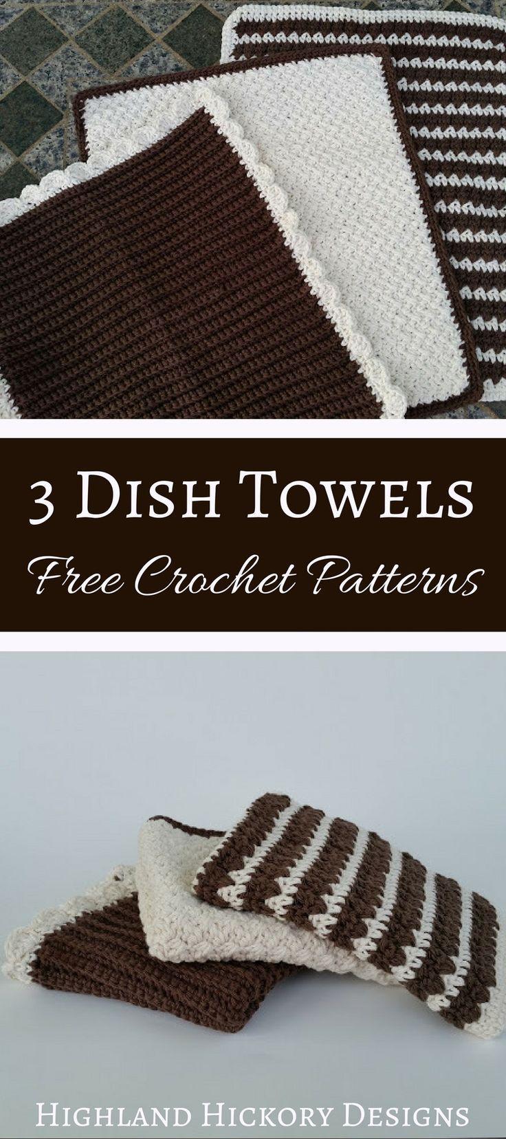Dish Towels or Dish Mat - Free Crochet Pattern | Pinterest | Kitchen ...