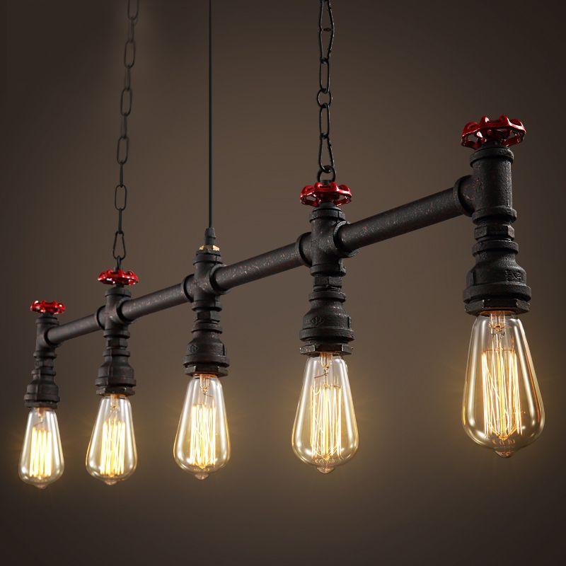 Extremement Loft designer industrial encanamento retro restaurante bar lâmpada AE-03