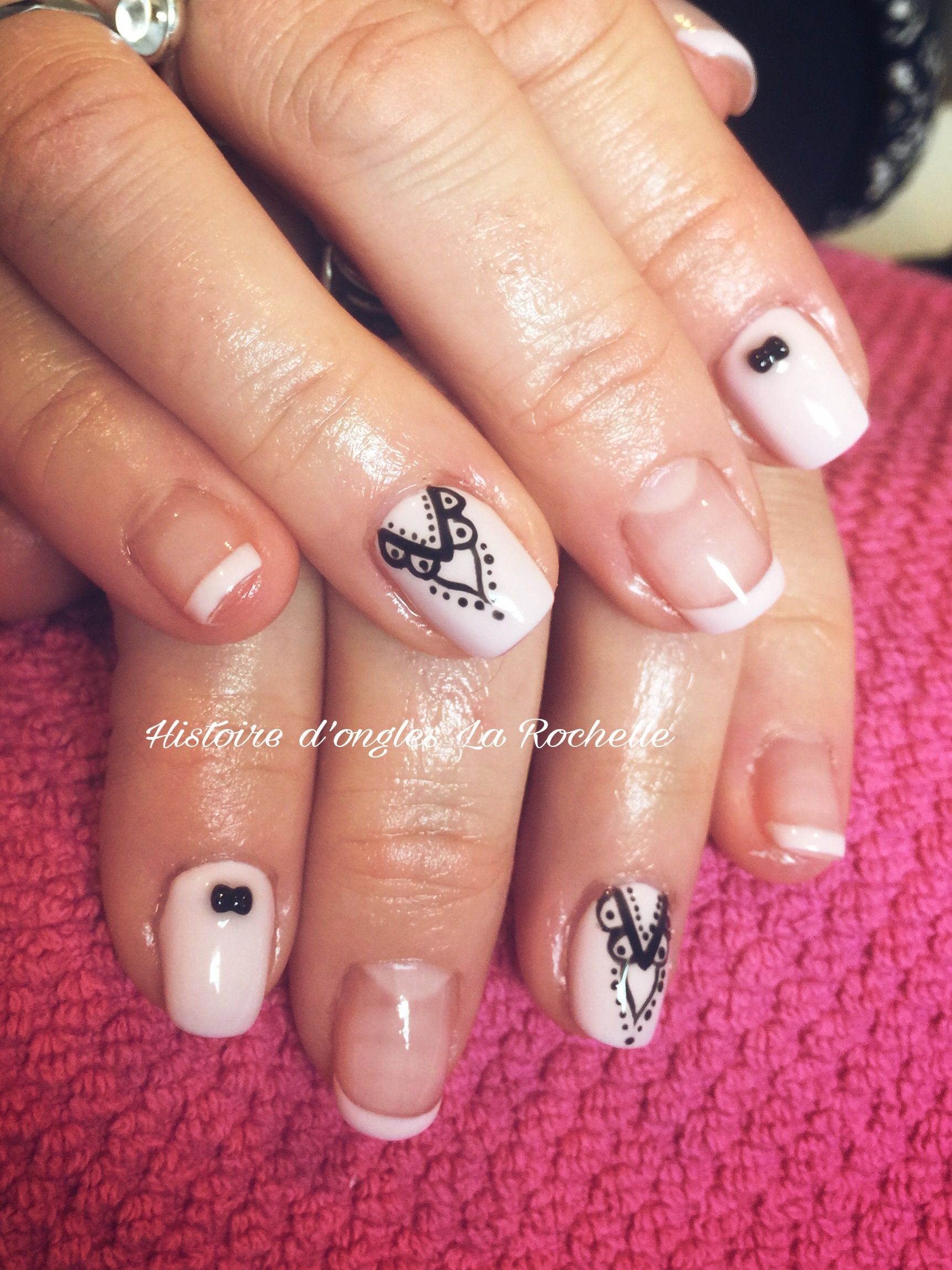 About baby boomer nail art tutorial by nded on pinterest nail art - Superbe Nail Art Mandala Ongles Nude Rose Histoire D Ongles R Alise Pinterest