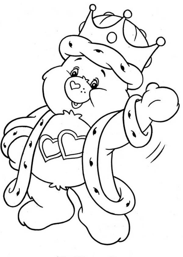 Care Bear, : King Love a Lot Bear from Care Bear Coloring ...