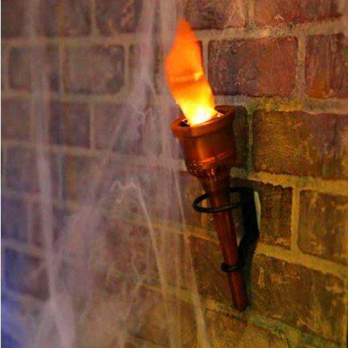 Wand Fackel Flamme Flackert Im Dunkeln Verwandeln Sie Ihr Haus In Eine Geistervilla Oder Ein Marchenschloss Fakely Tiki