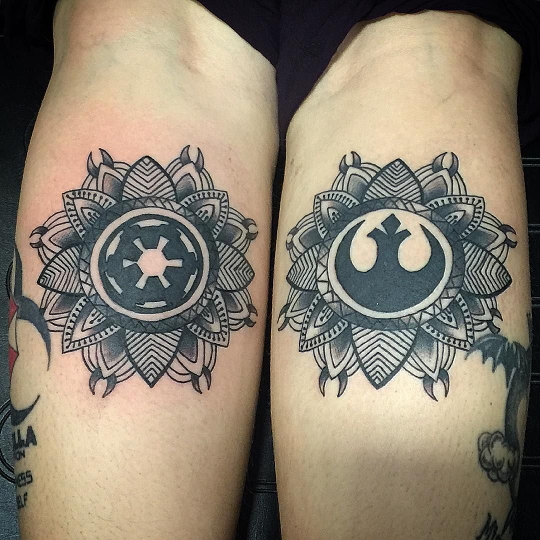 28 star wars tattoos that will awaken the force in you for Matching star wars tattoos