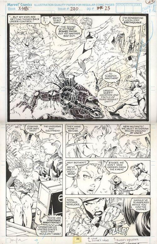 Jim Lee: Uncanny X-Men #270 pg 23, in MattSmith's Jim Lee Comic Art Gallery Room - 569005