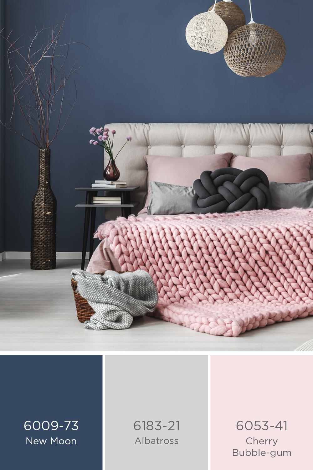 Best Sico Paints Dark Blue And Pale Pink With Subtle Touches 400 x 300