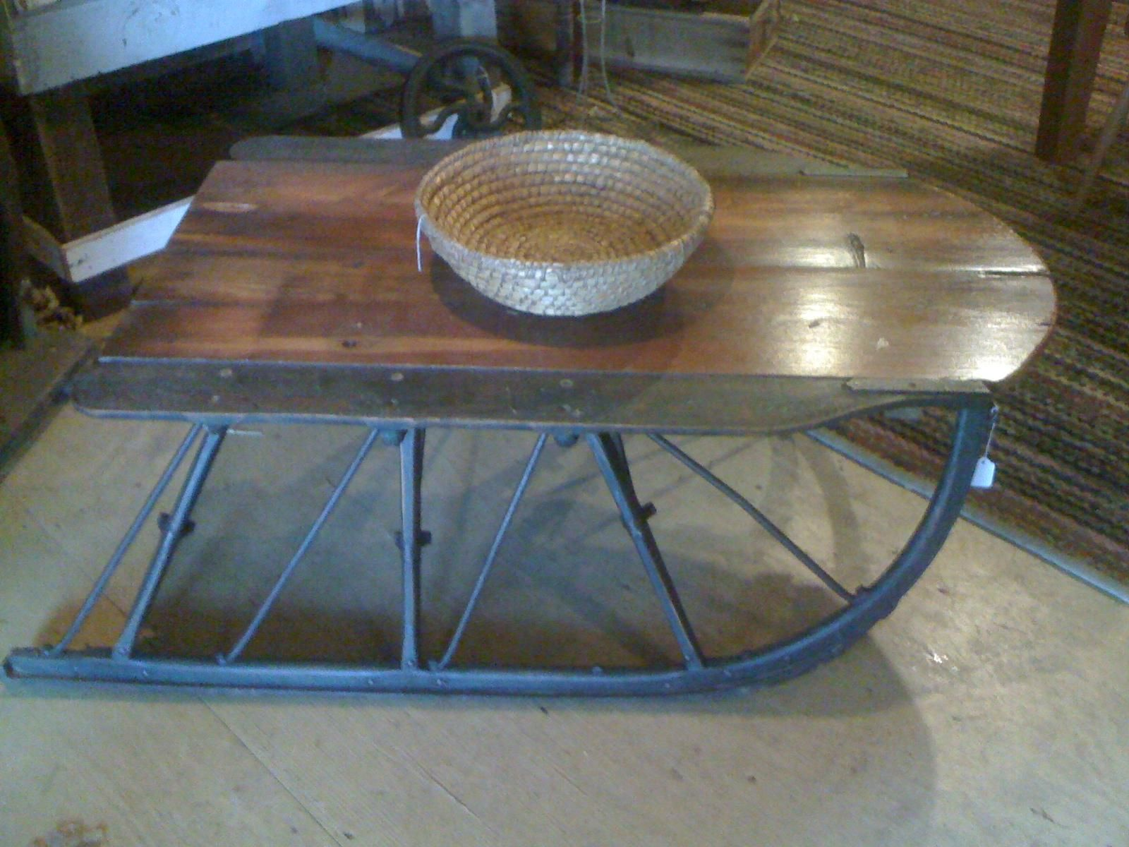 Wowde from an old sleigh runner primitive furniture antique sleigh runners put to practical use geotapseo Images