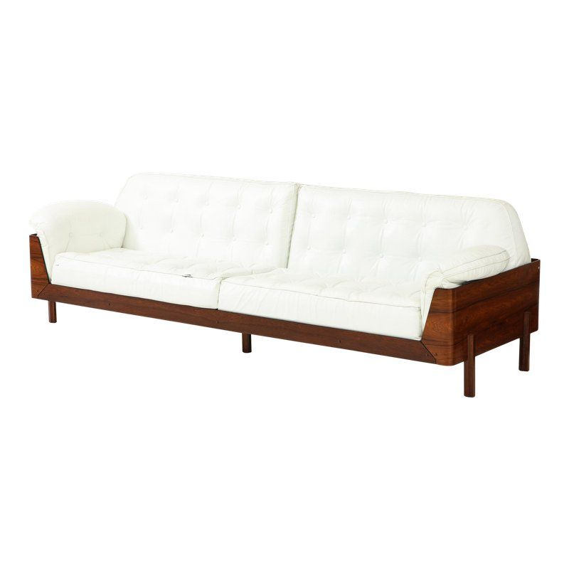 Excellent Brazilian Sofa In Jacaranda And White Leather In 2019 Pdpeps Interior Chair Design Pdpepsorg