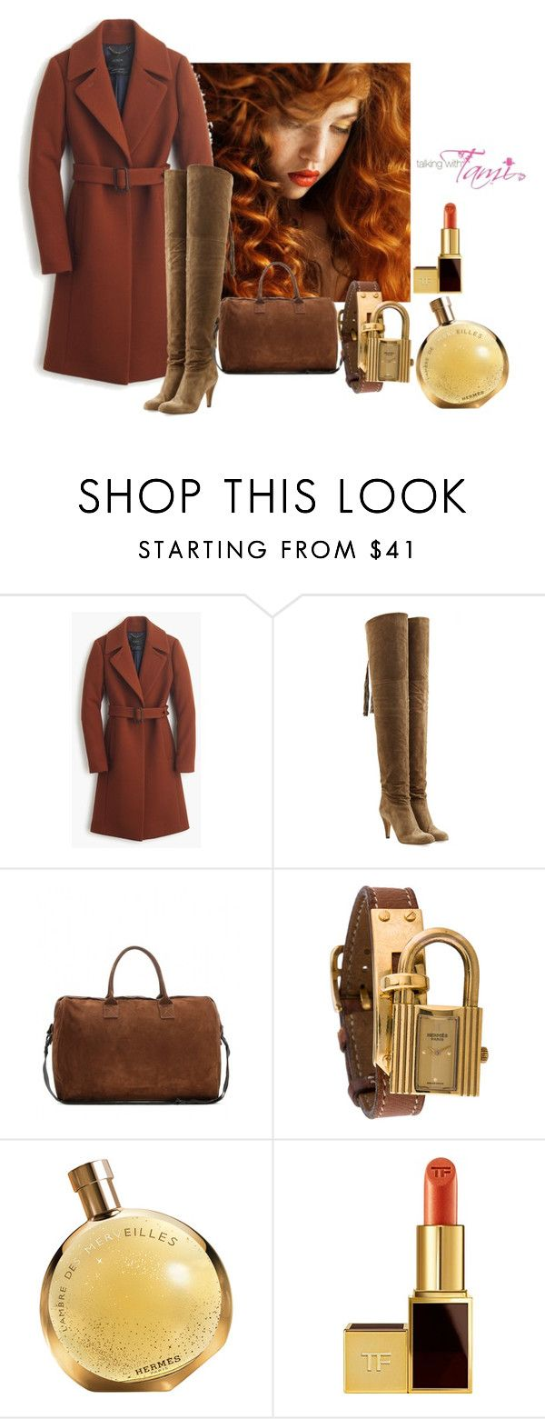 """""""Weekend Girl"""" by talkingwithtami ❤ liked on Polyvore featuring J.Crew, Chloé, adidas Originals, Hermès and Tom Ford"""