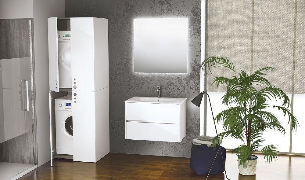 Novellini badkamermeubel Slot met bijpassende wasmachinekast en kast ...