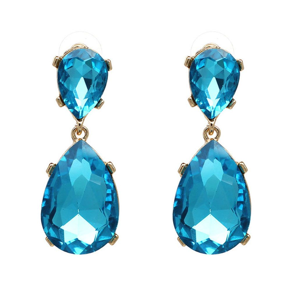 Light Blue Turquoise Bridal Earrings December by NotOneSparrow