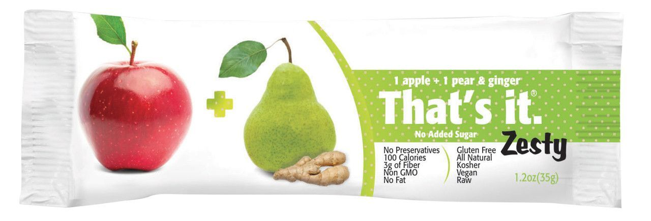 That's It Zesty Apples + Pears & Ginger Bar 1.2 oz