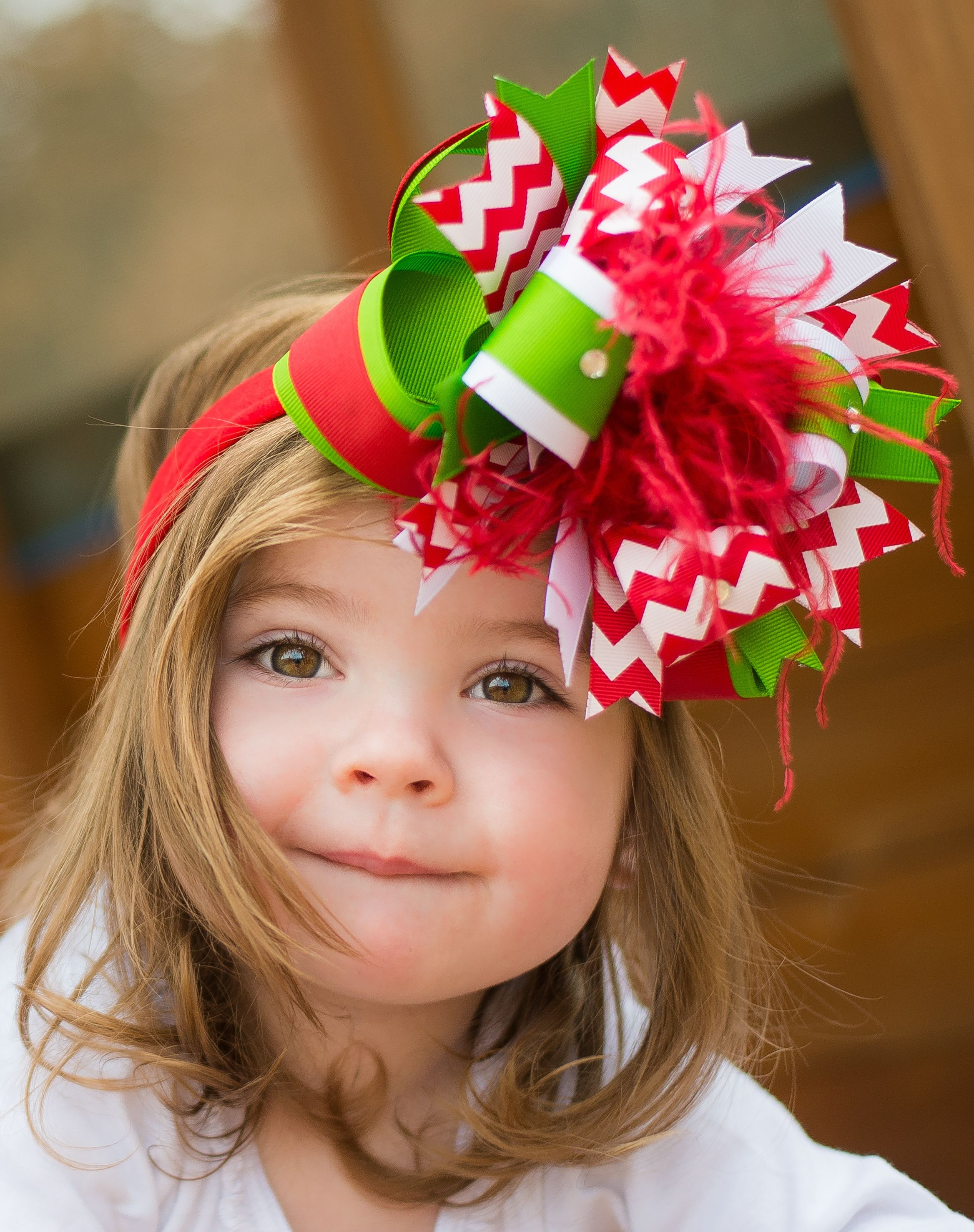 56c7d04355c72 Boutique Christmas Green Red Baby Toddler Headband Bow | Hair Bows ...