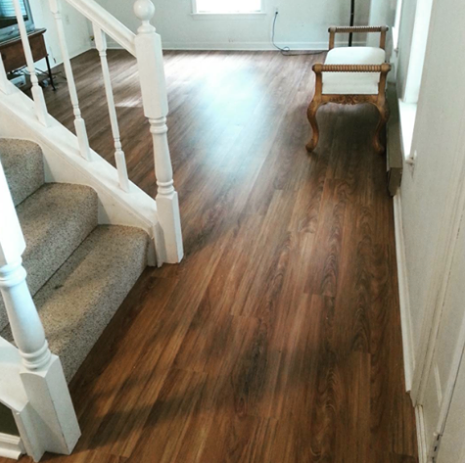 Look How Gorgeous This Entry Looks With Our Luxury Vinyl Plank