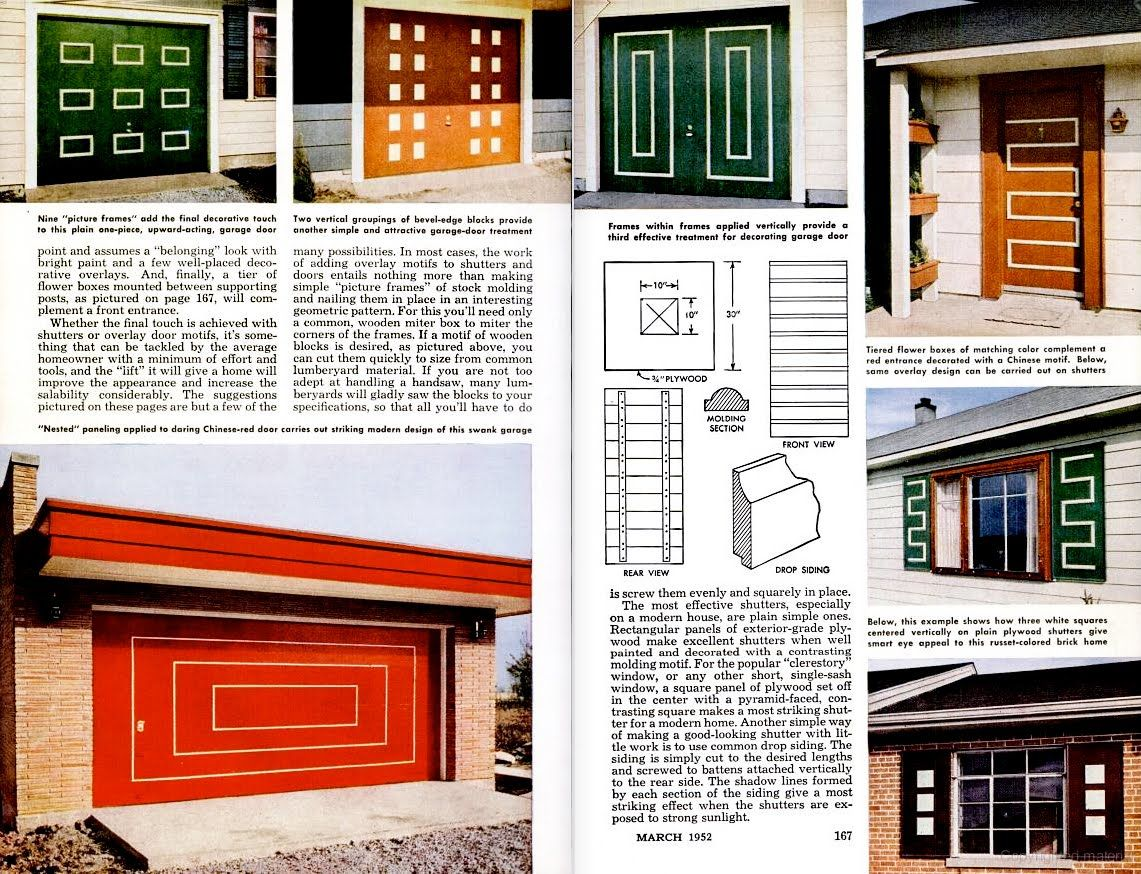 The Art Of The Garage Door Mid Century Modern Exterior Mid