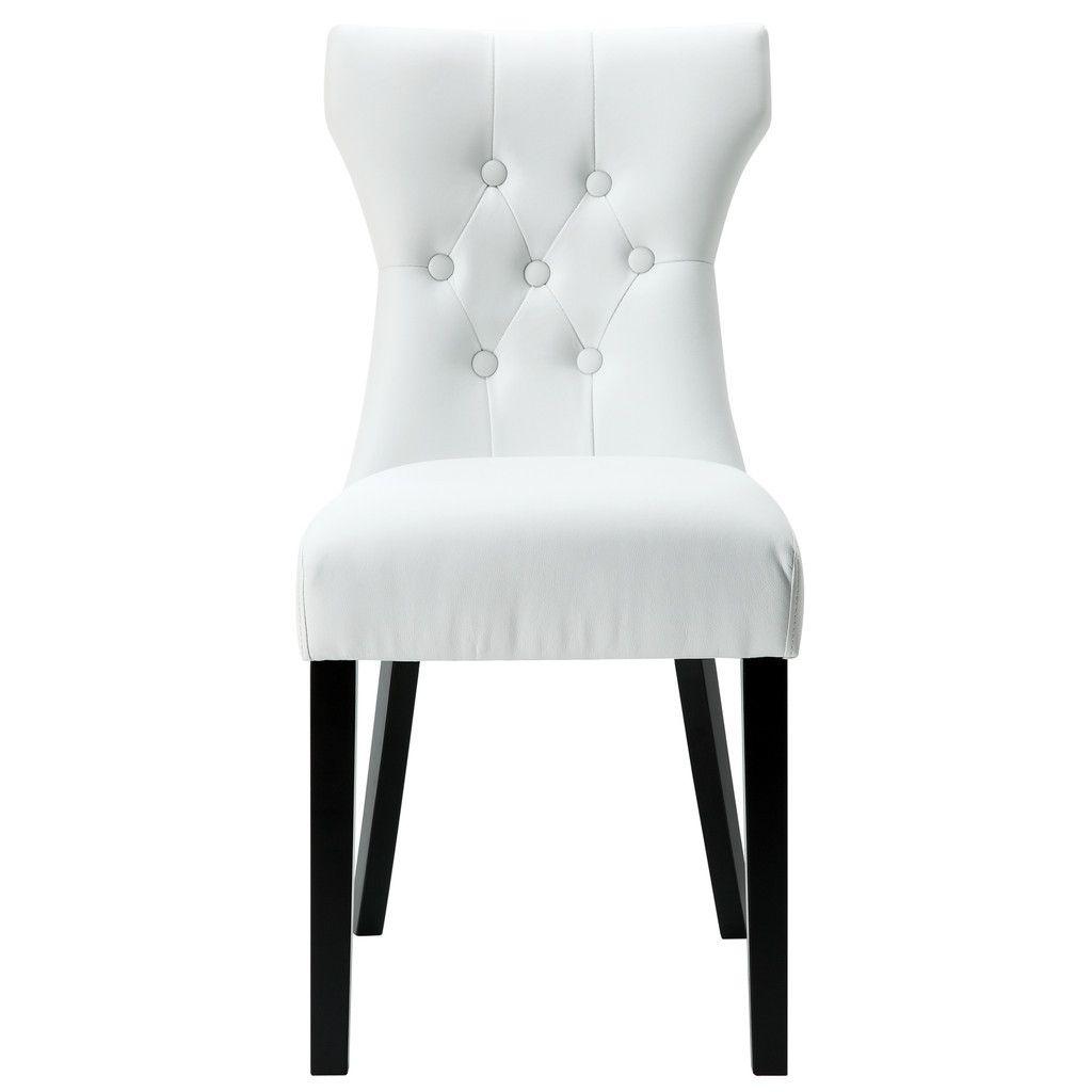 Silhouette modern dining chair white comedores modernos for Sillas de escritorio walmart