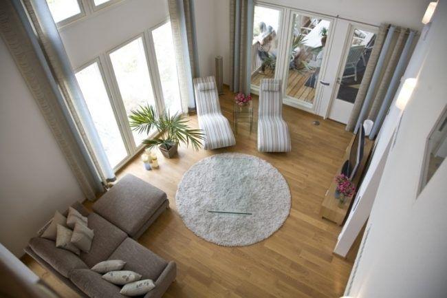 Nach Feng Shui Wohnzimmer einrichten -einrichten-teppich-rund-beige ...