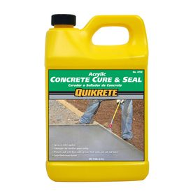 Quikrete cure and seal 128 fl oz acrylic masonry sealer for Waterproof acrylic sealer for crafts