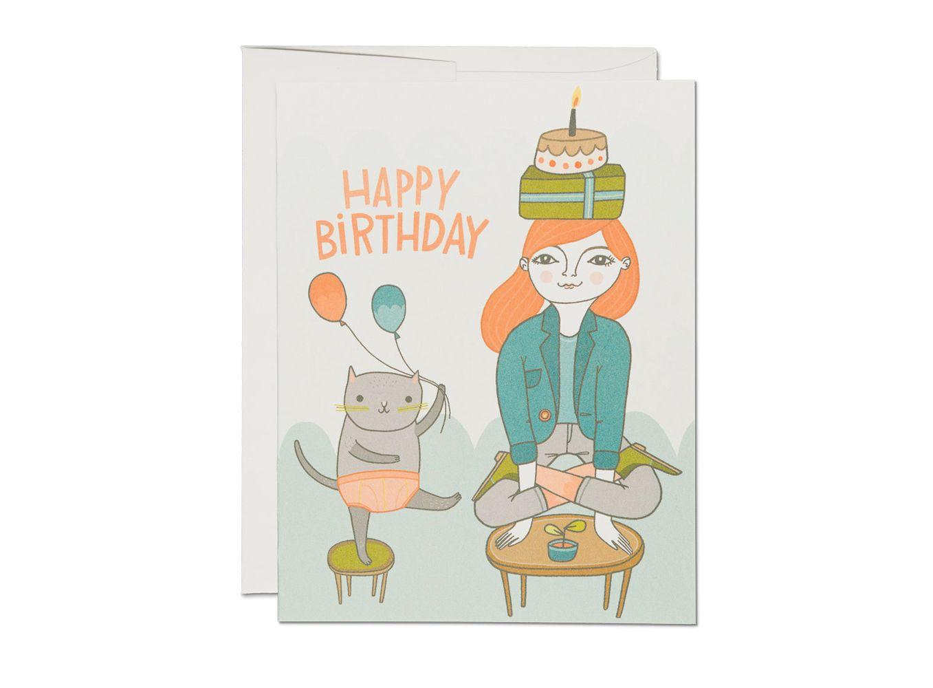 Поздравление йога с днем рождения открытка