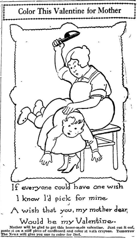 vintage Valentine Coloring Pages | Oh Lady, be my Valentine and ...