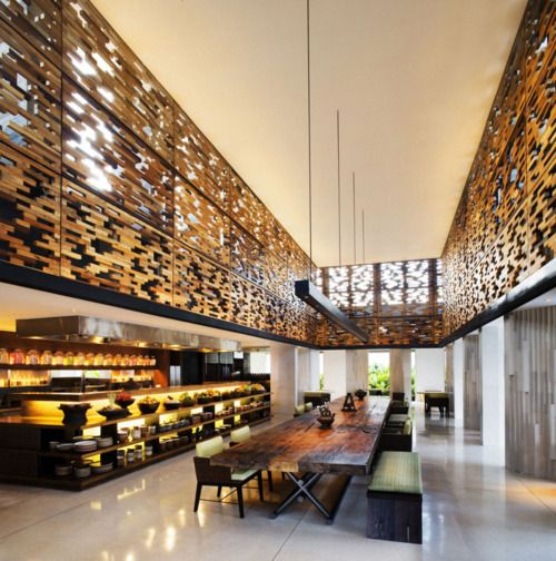 kitchen Restaurant architecture, Alila villas uluwatu