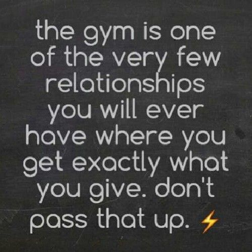 The gym...