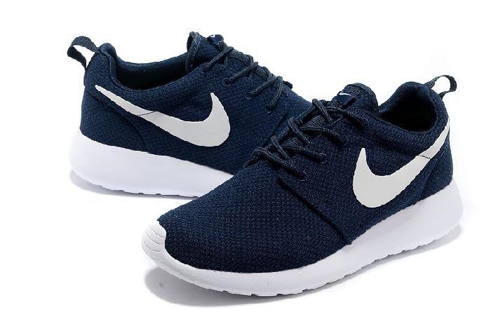 on sale 57f3d 58fb9 Pas cher Nike Roshe One Running Chaussures Noir Et Bleu Blanc et Are Nike  Roshe Running Chaussures en ligne
