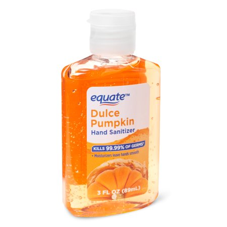 Equate Hand Sanitizer Dulce Pumpkin 3 Fl Oz Orange Hand