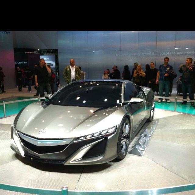 Acura NSX Concept Car - Hybrid. 2012 NY Autoshow.