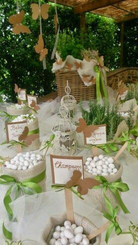 Confettata Country Aromatiche E Farfalle Idee Per Matrimoni Decorazioni Cerimonia Di Nozze Ricevimenti