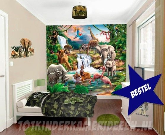Jungle kamer idee kinderkamer ideeën decoratie