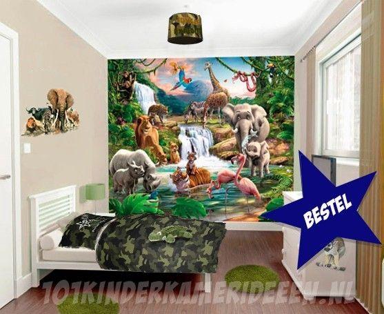 Jungle kamer idee | 101 kinderkamer ideeën & decoratie | Slaapkamer ...
