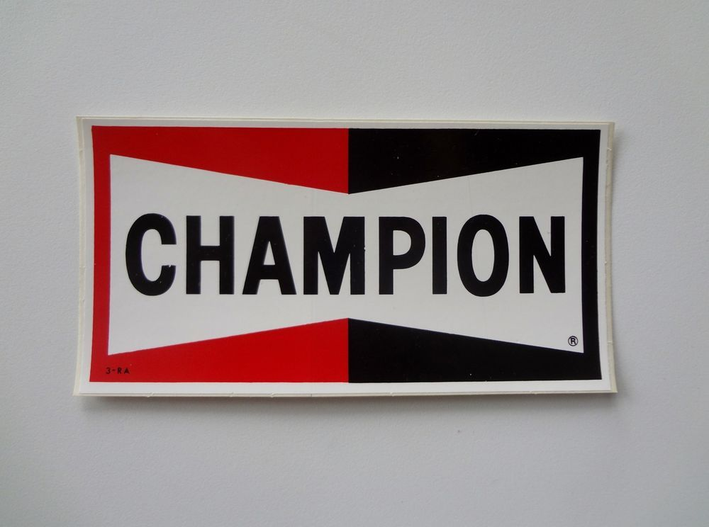 1968 CHAMPION SPARK PLUGS VINTAGE ORIGINAL RACING DECAL STICKER NOS NASCAR NHRA