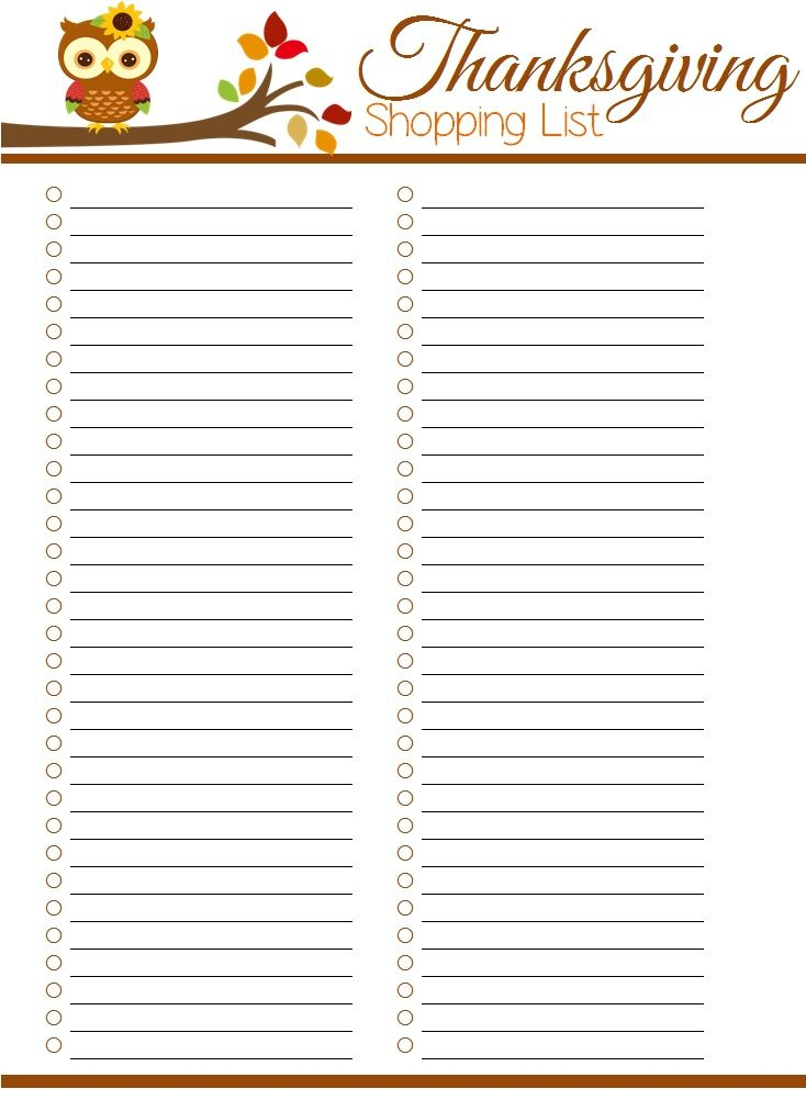 Free Thanksgiving Planner Printables  The  Thanksgiving And