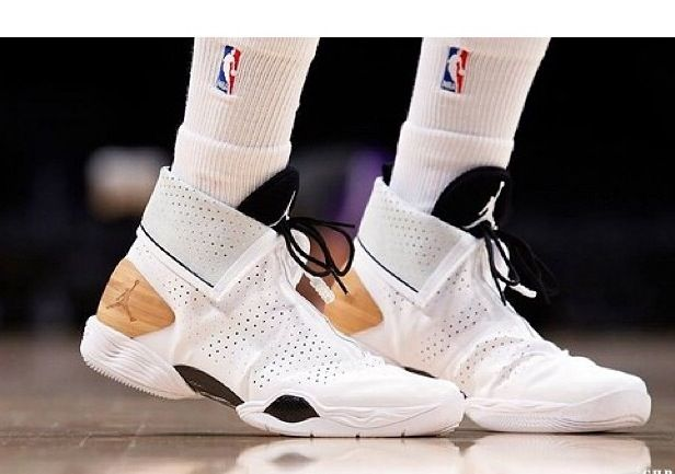 f1d9b08be41 Kendall Marshall in the Air Jordan 28 bamboo