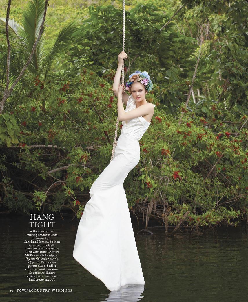 Carolina Herrera Trumpet Wedding Dress