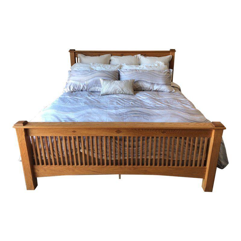 Amish Oak Mission Bed Bed Frame King Size Bed Frame Bed