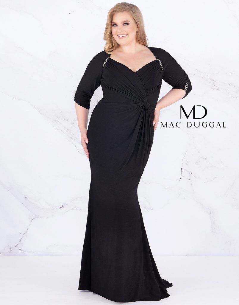 bfb81c31986 Mac Duggal Long Plus Size Prom Dress