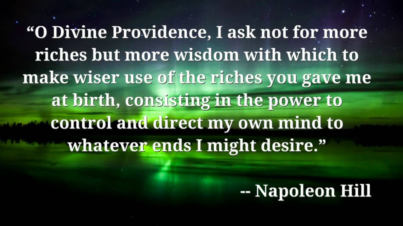 daily prayer from napoleon hill