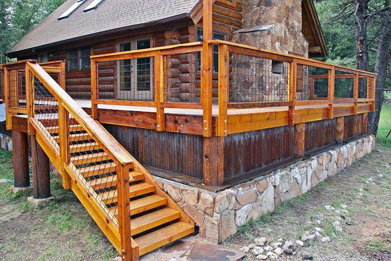 Deck Railing Balusters Redwood Color Connecting Deck Railing Balusters Outdoor Design Ideas Deck Railing Images Rustic Deck Deck Paint