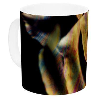 KESS InHouse Rose Swirl by Ingrid Beddoes 11 oz. Rainbow Ceramic Coffee Mug