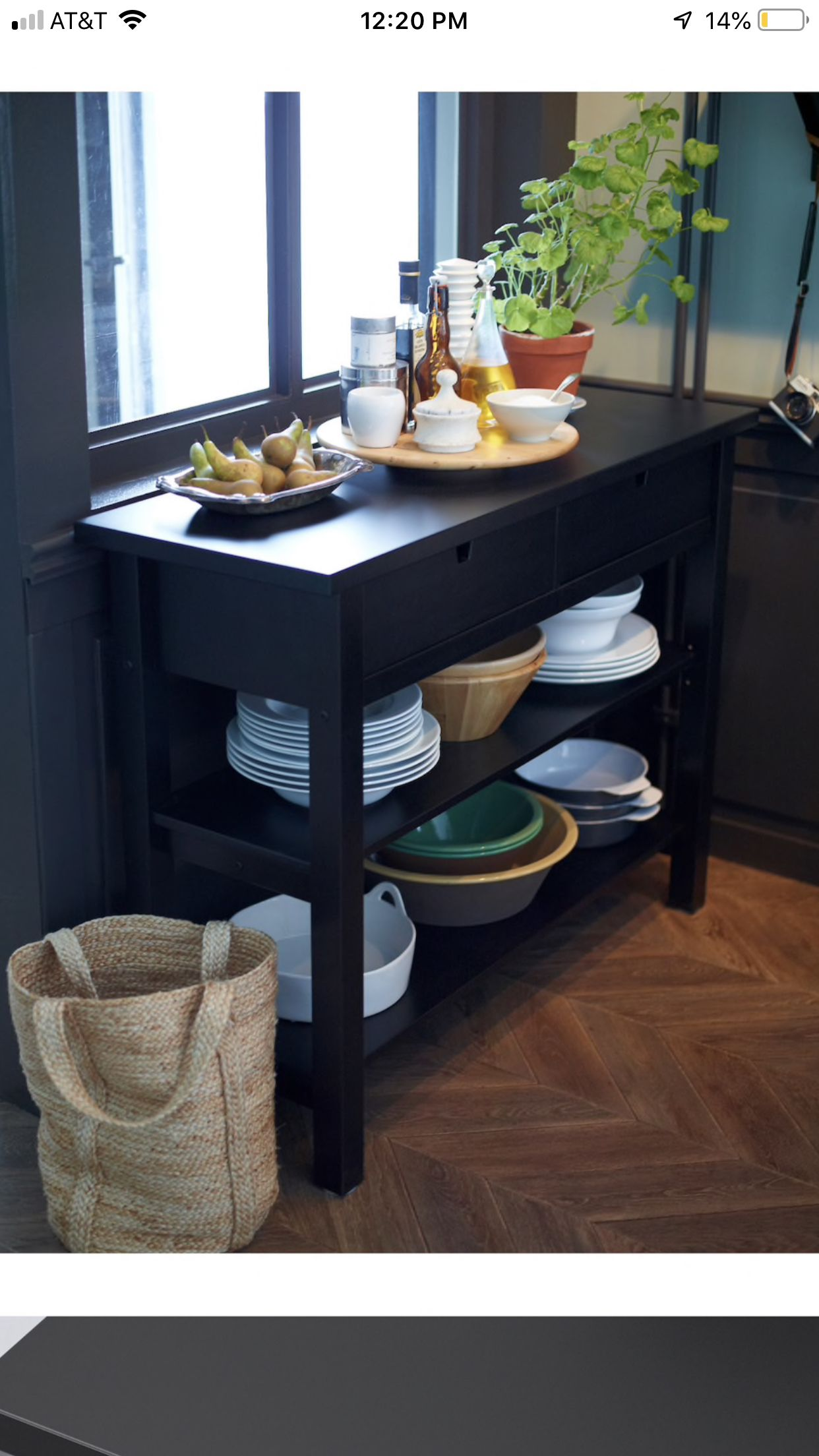 IKEA norden side table (With images) Kitchen decor